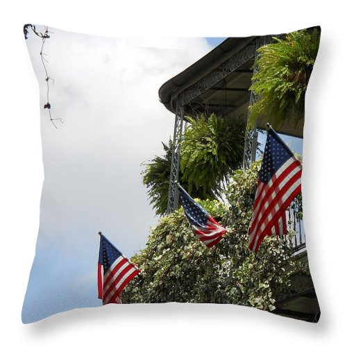 Balcony Throw Pillow featuring the photograph Balcony I by Beth Vincent