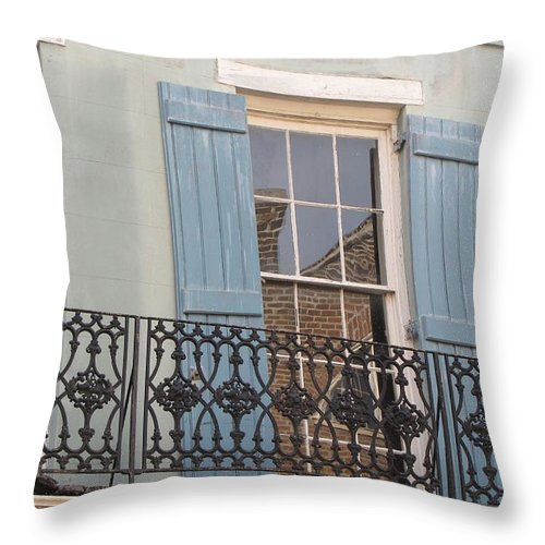 Balcony Throw Pillow featuring the photograph Balcony II by Beth Vincent