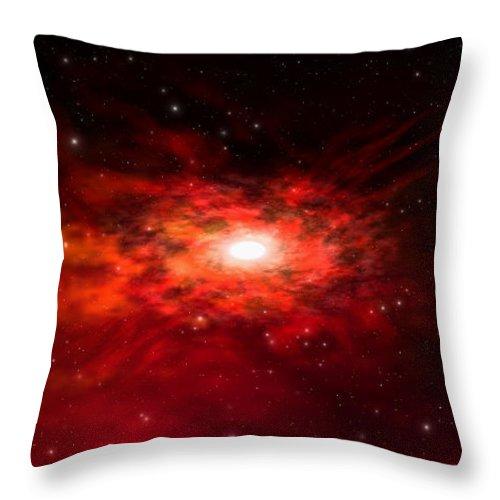 Throw Pillow featuring the digital art Balisa Nebula by Robert aka Bobby Ray Howle