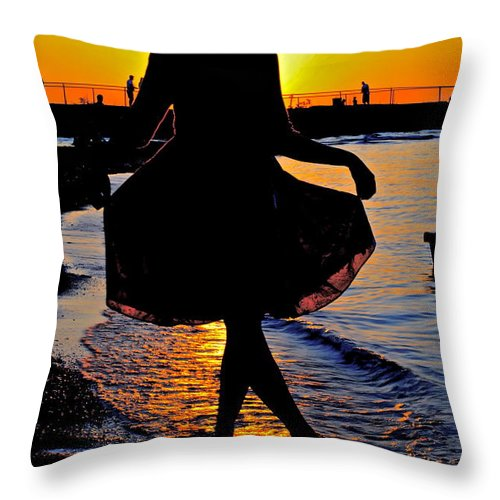 Ballerina Throw Pillow featuring the photograph Ballerina by Frozen in Time Fine Art Photography