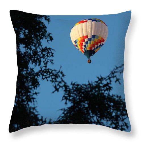 Hot Air Balloon Throw Pillow featuring the photograph Balloon-6992 by Gary Gingrich Galleries