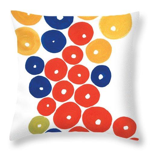 Contemporary Throw Pillow featuring the painting Balls by Bjorn Sjogren