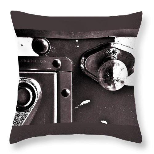 Pinball Throw Pillow featuring the photograph Launcher by Benjamin Yeager