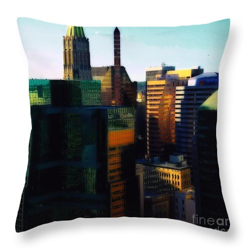 Architectural Art Throw Pillow featuring the photograph Baltimore Beauties by Robert McCubbin