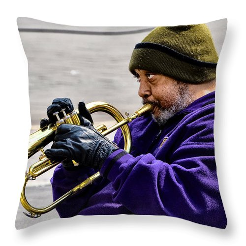 Baltimore Throw Pillow featuring the photograph Baltimore Blues by Bill Cannon