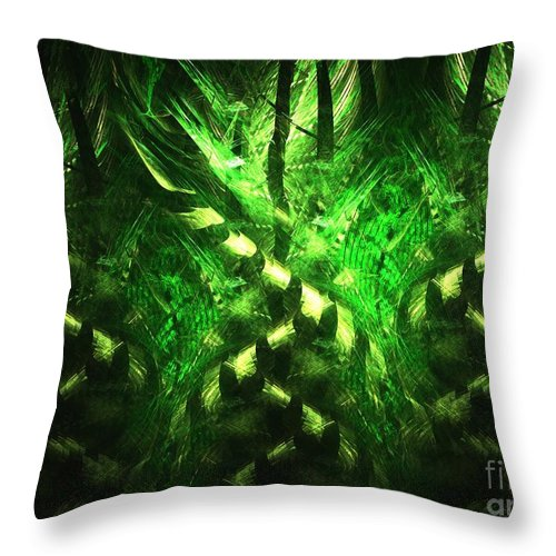Apophysis Throw Pillow featuring the digital art Bamboo Twist by Kim Sy Ok