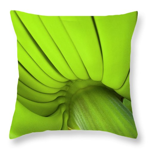 Nature Throw Pillow featuring the photograph Banana Bunch by Heiko Koehrer-Wagner