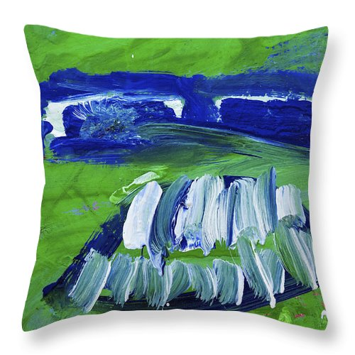 Water Paints Throw Pillow featuring the photograph Bandit Teeth by Richard J Cassato