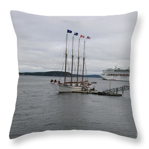 Bar Harbor Throw Pillow featuring the photograph Bar Harbor Maine by Christiane Schulze Art And Photography
