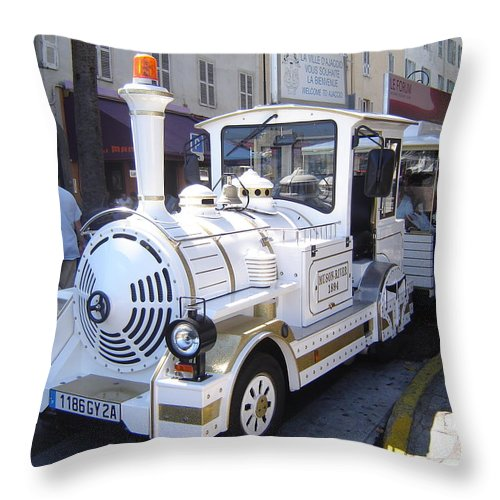 Barcelona Throw Pillow featuring the photograph Barcelona Train Ride by Martin Masterson