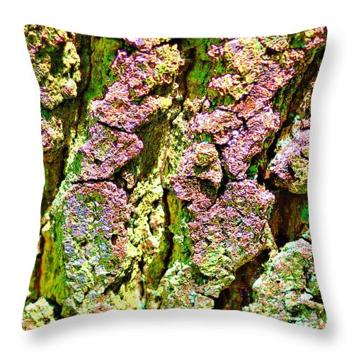 Photo Images Throw Pillow featuring the photograph Bark by Gabi Siebenhuehner