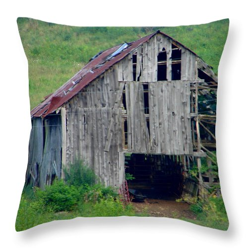 Barn Throw Pillow featuring the photograph Barn 1 by Lew Davis