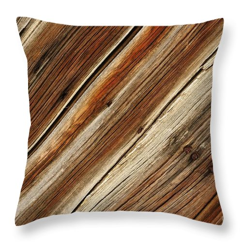 Barn Throw Pillow featuring the photograph Barn Wood Detail by Vivian Christopher