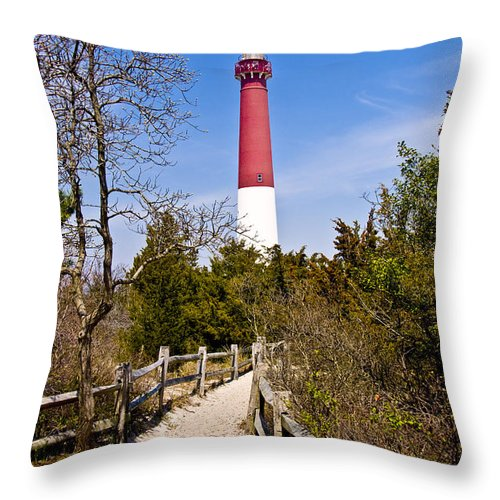 Lighthouses Throw Pillow featuring the photograph Barnegat Lighthouse II by Anthony Sacco