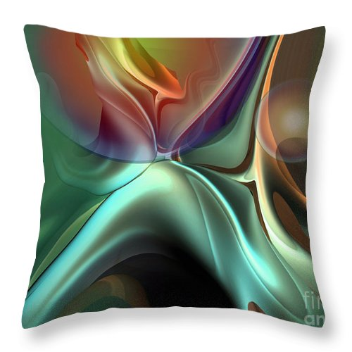 Reminiscence Throw Pillow featuring the painting Baroque music reminiscence by Christian Simonian