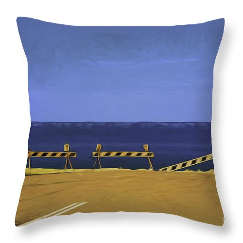 Barriers Throw Pillow featuring the photograph Barriers by Sheila Smart Fine Art Photography