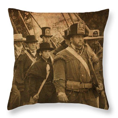 Battle Throw Pillow featuring the photograph Battle Line by W M Dunn