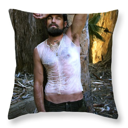 Throw Pillow featuring the photograph Battlefield Earth X Arrows Of Fire Color by William Dey