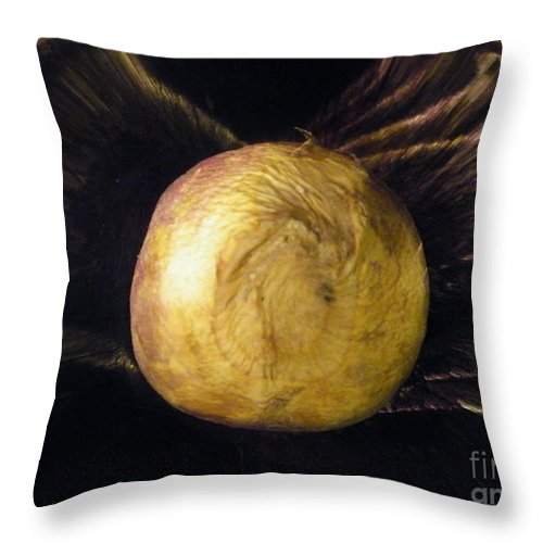 Batwing Throw Pillow featuring the photograph Batwinged Swede by Brian Boyle