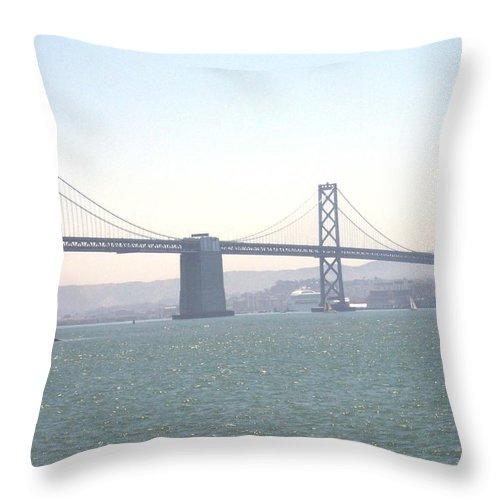 Bay Bridge Throw Pillow featuring the photograph Bay Bridge by Pharris Art