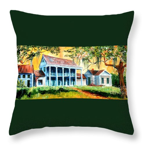 Louisiana Throw Pillow featuring the painting Bayou Country by Diane Millsap
