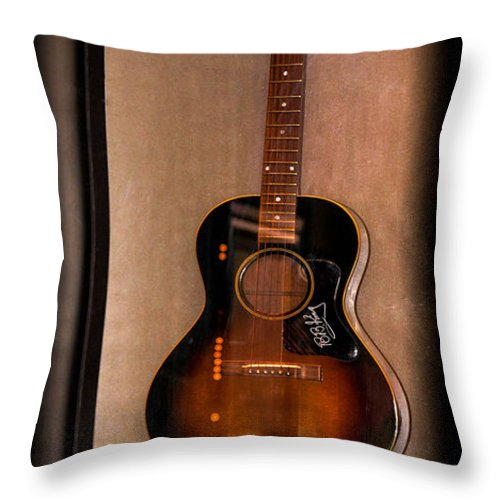 B.b. King' Throw Pillow featuring the photograph Bb King's Guitar by Gary Keesler