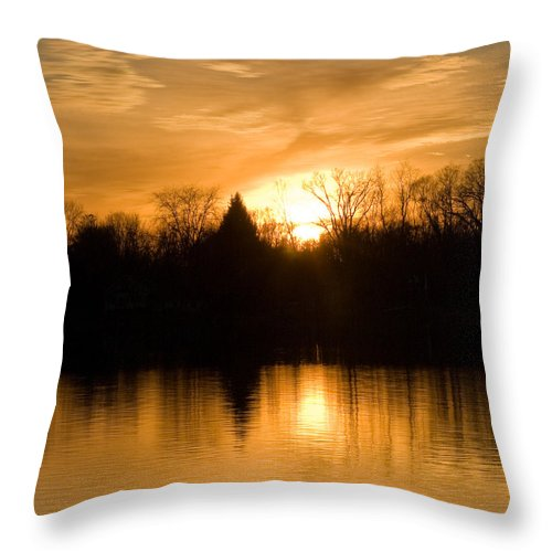 Sunset Throw Pillow featuring the photograph Be Still And Know by Holly Kallie
