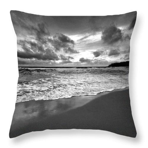 Beach Throw Pillow featuring the photograph Beach 9 by Ingrid Smith-Johnsen