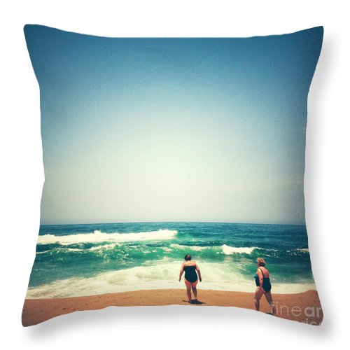 Square Throw Pillow featuring the photograph Beach 6 by Neil Overy
