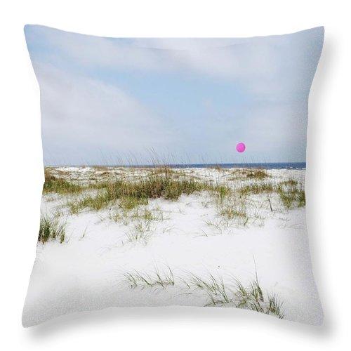 Beach Throw Pillow featuring the digital art Beach Ball by Lizi Beard-Ward