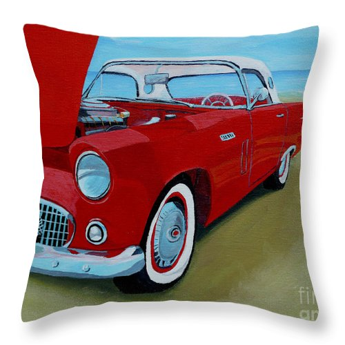 Car Throw Pillow featuring the painting Thunder Bird by Anthony Dunphy