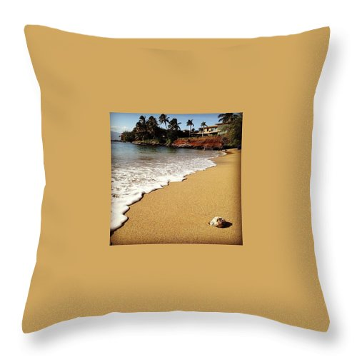 Maui Throw Pillow featuring the photograph Beach Day by Darice Machel McGuire