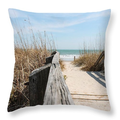 Beach Throw Pillow featuring the photograph Beach Day by Jessica Brown