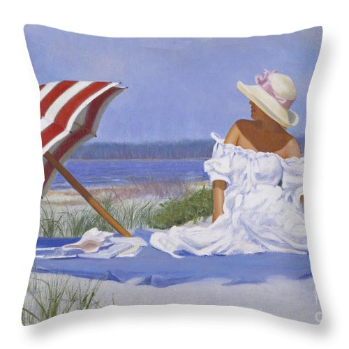 Impressionist Throw Pillow featuring the painting Beach Dreams by Candace Lovely