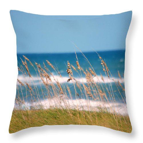Beach Throw Pillow featuring the photograph Beach Front 001 by Larry Ward