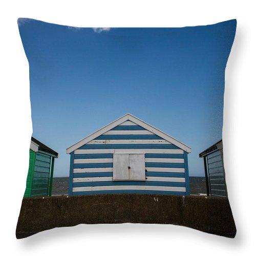 Beach Hut Throw Pillow featuring the photograph Beach Hut 41 by Dayne Reast