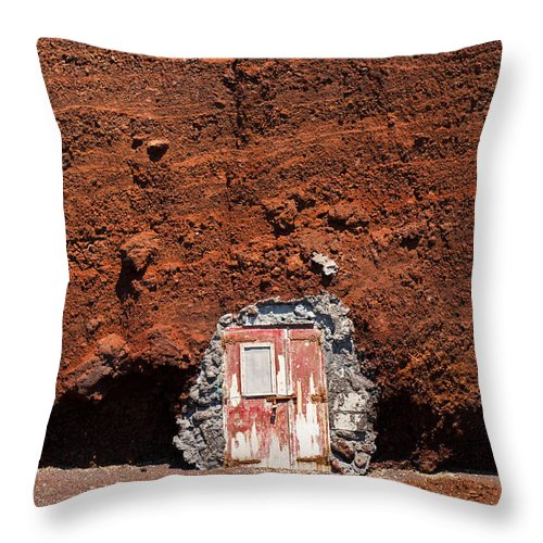 Diy Throw Pillow featuring the photograph Beach Hut Santorini Style by Gary Eason