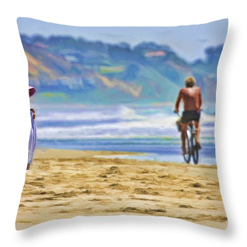 Beach Throw Pillow featuring the photograph Beach Of Life Large Crop by Blake Richards