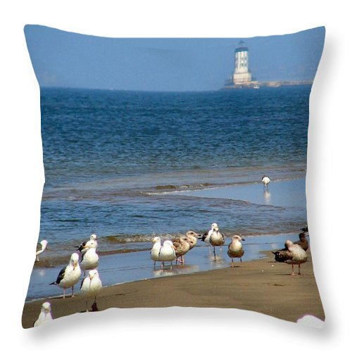 Beach Party Throw Pillow featuring the photograph Beach Party by Patrick Witz