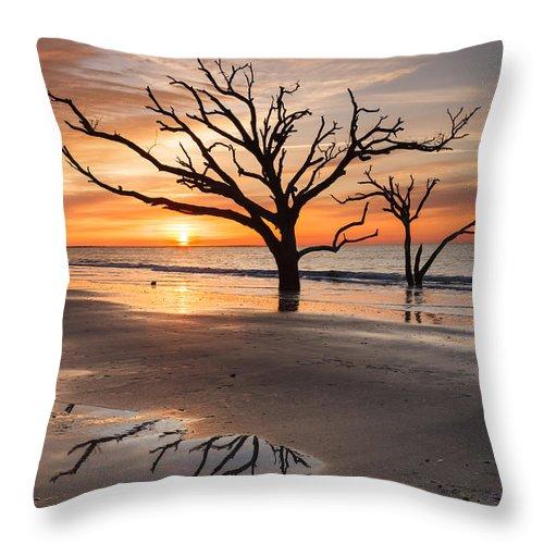 Sunrise Throw Pillow featuring the photograph Awakening - Beach Sunrise by Carol VanDyke