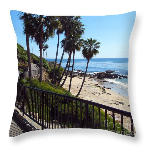 Beach Throw Pillow featuring the photograph Beach Walkway by Kelly Holm