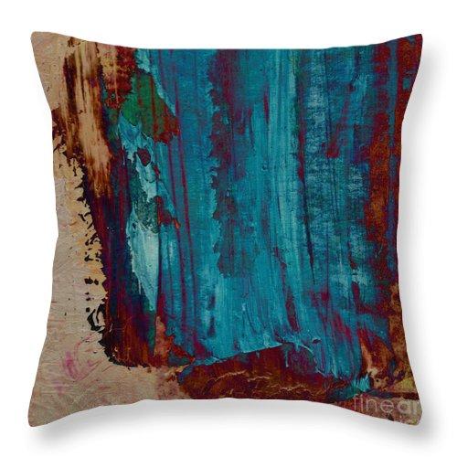 Abstract Throw Pillow featuring the painting Bealltainn I. Summer Festive by Paul Davenport