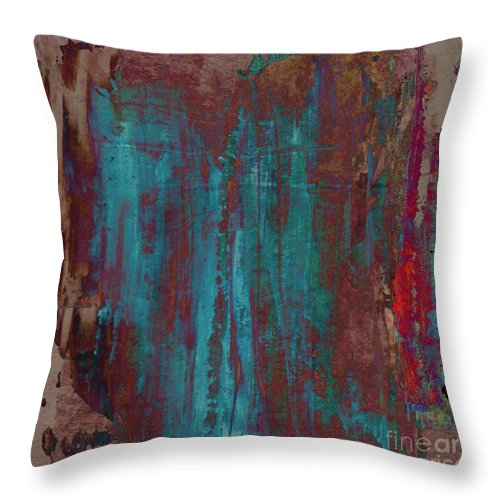 Abstract Throw Pillow featuring the painting Bealltainn II. Summer Festive by Paul Davenport
