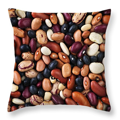 Beans Throw Pillow featuring the photograph Beans by Elena Elisseeva