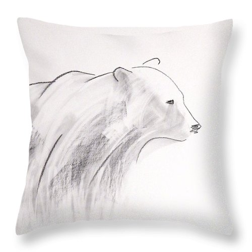 Bear Throw Pillow featuring the painting Bear by Alaskan Raven Studio