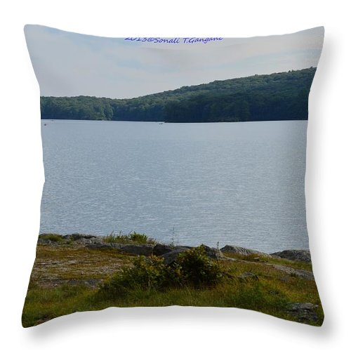 Peaks Of New York's Hudson Highlands Throw Pillow featuring the photograph Bear Mountain by Sonali Gangane