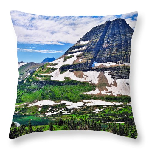 Bearhat Mountain Throw Pillow featuring the photograph Bearhat Mountain by Greg Norrell