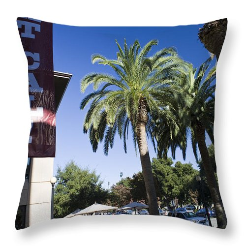 Sports Equipment Throw Pillow featuring the photograph Beat Cal Sign Stanford University by Jason O Watson