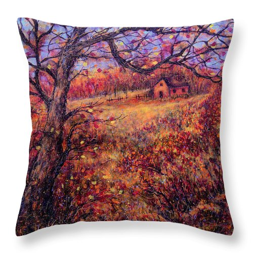 Autumn Throw Pillow featuring the painting Beautiful Autumn by Natalie Holland