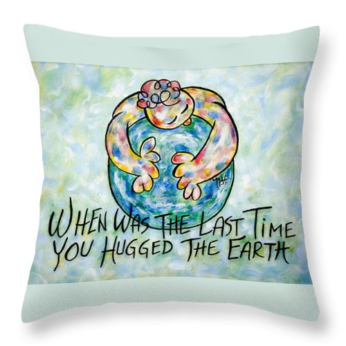Save The Earth Throw Pillow featuring the painting Beautiful Earth by Natalie Holland
